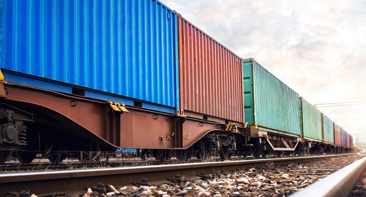 Containers op trein transport - Freightlogistiek - Jan Krediet