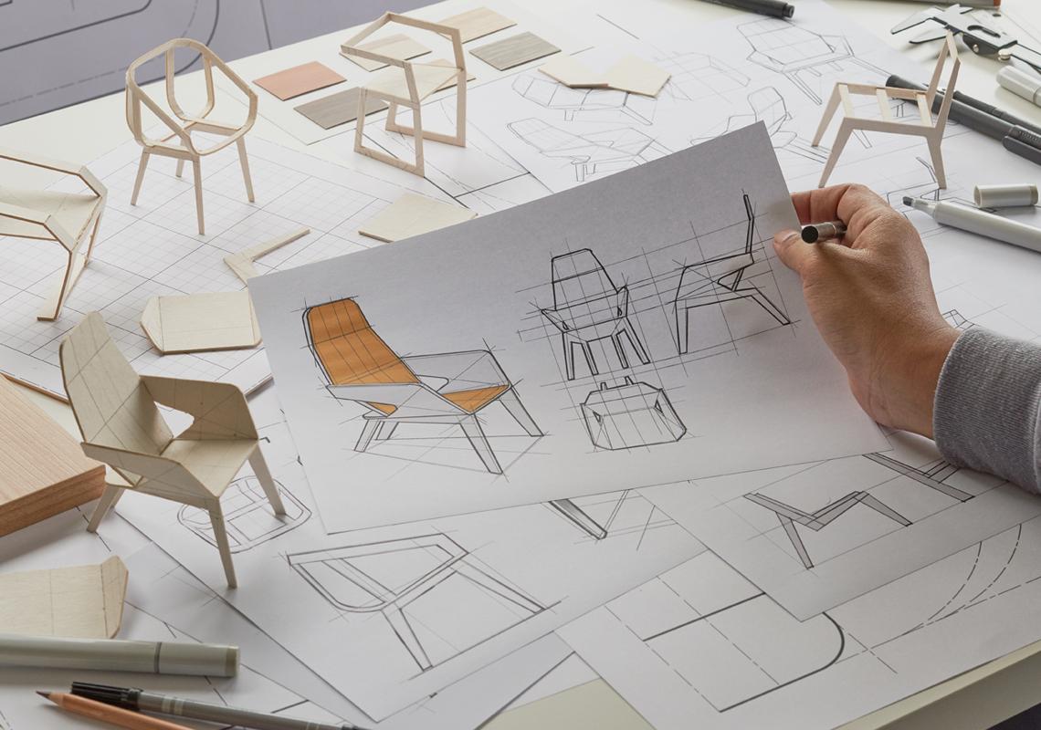 Schets stoel - Logistieke oplossingen meubelsector - Jan Krediet