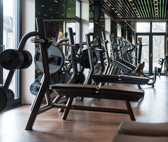 Ruimte met sportapparaten - Logistieke oplossingen leisure sector - Jan Krediet