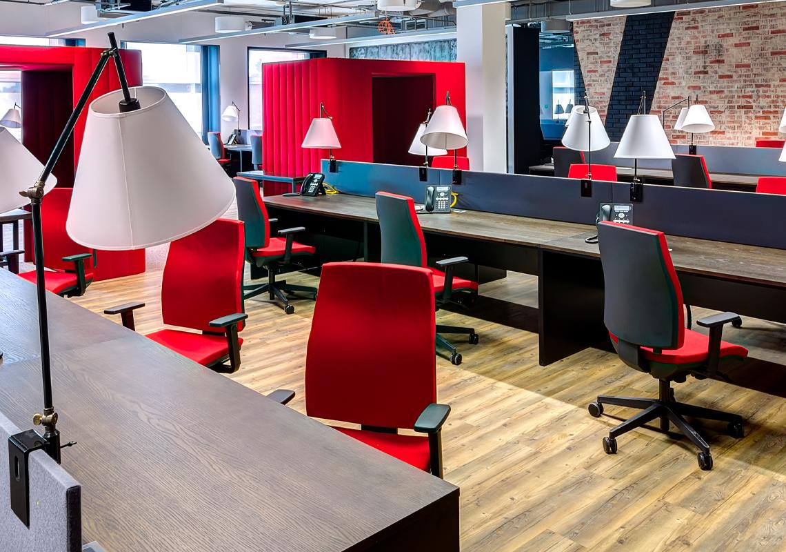 Ingericht kantoor - Wereldwijde installatie voor projecten - Jan Krediet
